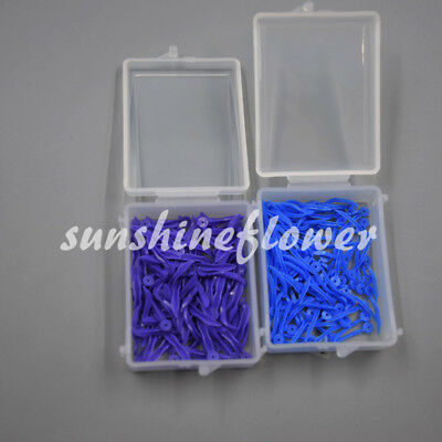 100 Pcs Dental Poly-wedge Available Plastic With Holes Disposable Wave Shape 4