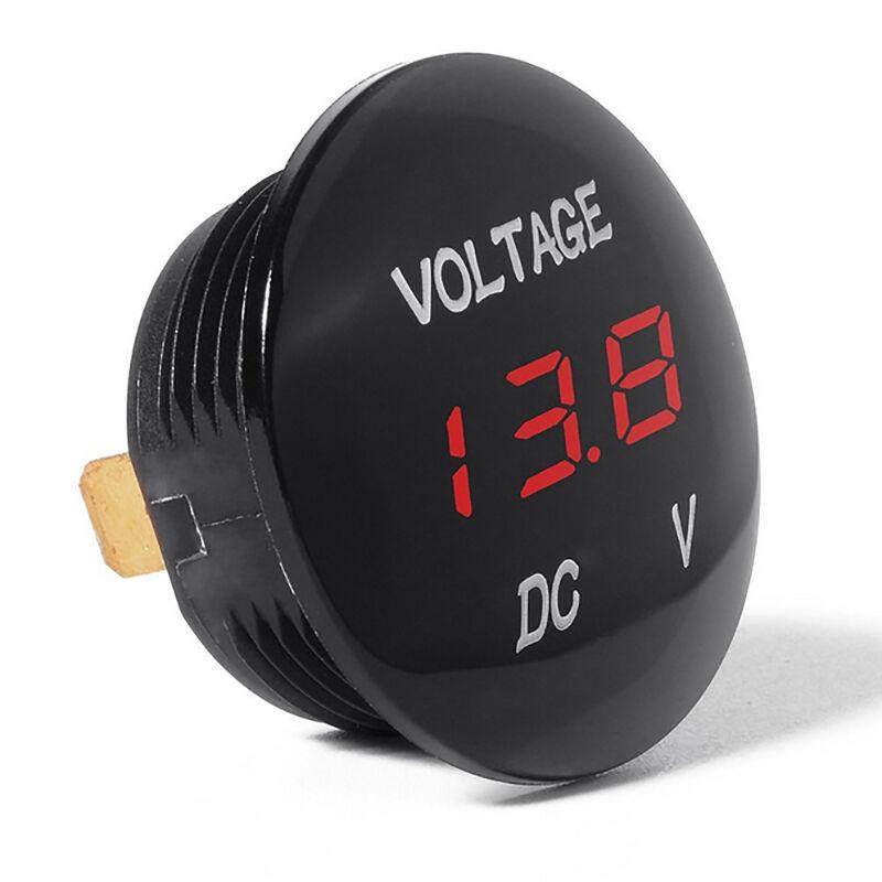 DC 12V/24V Car LED Light Panel Digital Voltage Volt Meter Display Voltmeter Tool 5