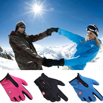 Mens Womens Winter Gloves Windproof Thermal Touchscreen Gloves Cycling Running
