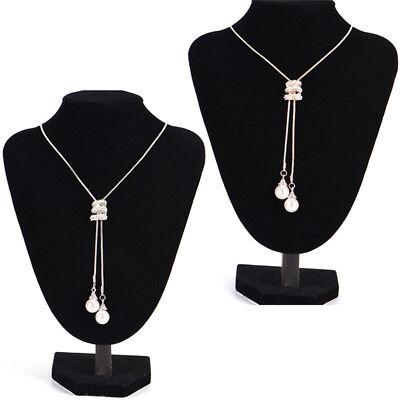 Long collier pendentif Perle en cristal collier chaîne de perles bijoux 9H