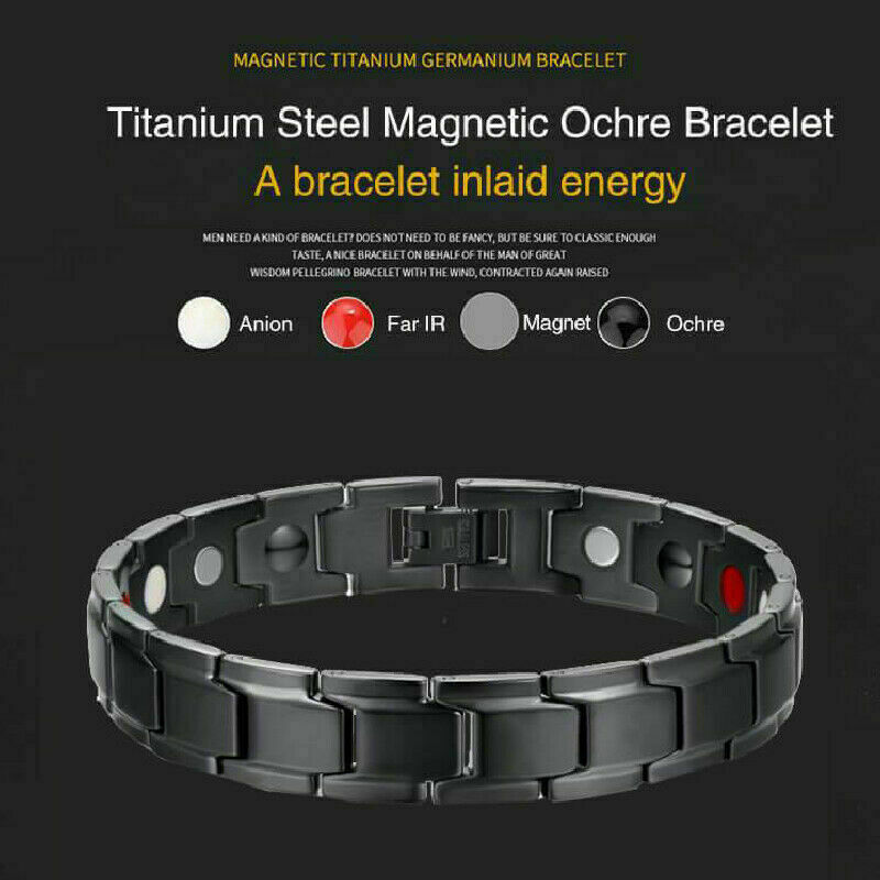 Therapeutic Energy Healing Bracelet Stainless Steel Magnetic Therapy Bracelet 3
