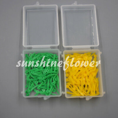 100 Pcs Dental Poly-wedge Available Plastic With Holes Disposable Wave Shape 3