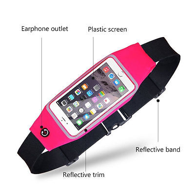 Sports Running Belt Waist Pocket Cycling Jogging Travel Wallet For Smart Phone 3