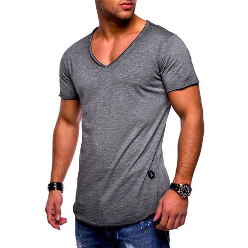 1a40600313633 Herren Kurzarm Shirt Bodybuilding Muskelshirt Slim Fit T-Shirt Oberteil  Fitness 5 5 von 9 ...