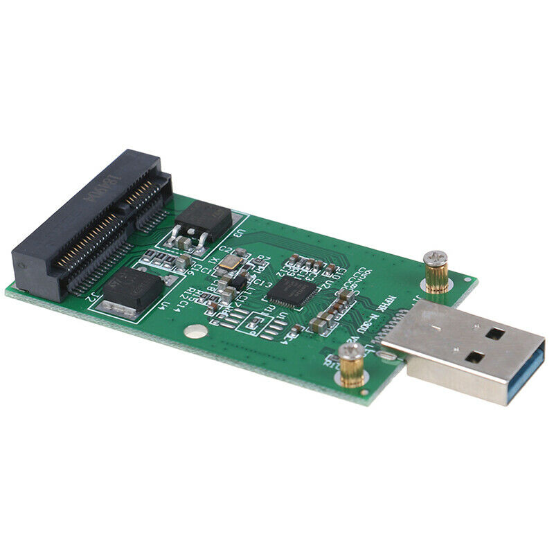 1Pc Mini USB 3.0 to PCIE mSATA External SSD PCBA Conveter Adapter  MER 7