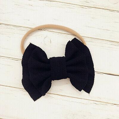 Handmade Baby Girls Simple Corn Bow Infant Headband Hair Band Knot Head Wrap 2