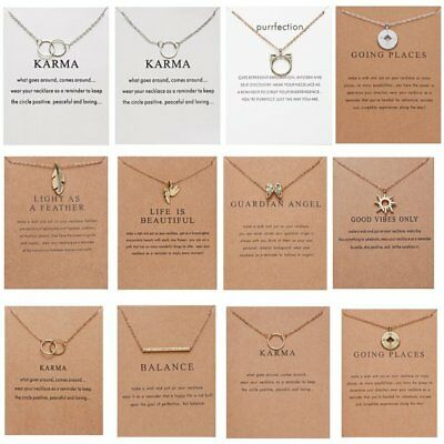 Gold Plated Pearl Bar Dragonfly Butterfly Animal Pendant Necklace Jewelry Gifts 6