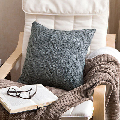 Knitting Throw Pillow Cases Cover Cafe Sofa Car Cushion Cover Home Decor 45x45cm
