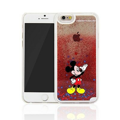 big sale 8fcde 8f1b8 CUTE CARTOON DISNEY Glitter Star Quicksand Case Cover for iPhone 5s SE 6S 7  Plus