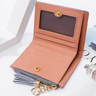 Fashion New Wallet Women Coin Bag Leather Lady Simple Bifold Small Handbag Purse 7