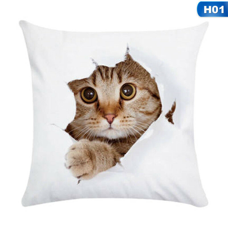 1X Animal Cute Cat Pillow Case Pet Cushion Cover For Home Pillowcase Decorations 4
