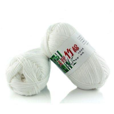 2018 Bamboo Cotton Warm Soft Natural Knitting Crochet Knitwear Wool Yarn 50g Hot
