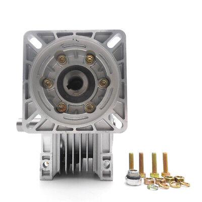 Worm Gear Reducer NMRV040 NEMA34 Input 14mm Ratio 15 25 40 50 80:1 Stepper Motor 2