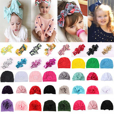 Baby Toddler Girls Kids Bunny Rabbit Bow Knot Turban Headband Hair Band Headwrap 2