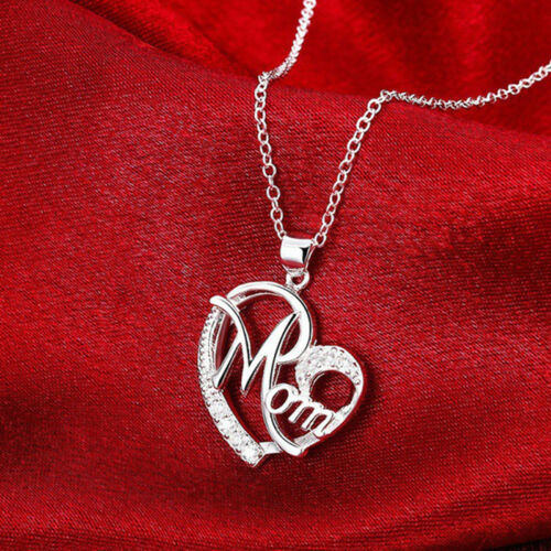 Women Lady Mom Pendant Necklace Gift for Mother Daughter Grandmother Jewelry US 6