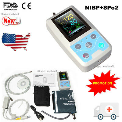 FDA PM50 Portable Vital Signs Patient Monitor NIBP/SpO2/Pr,PC Software CONTEC,CE 12