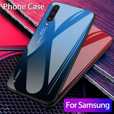 For Samsung Galaxy A50 A40 A20e A70 A80 Gradient Tempered Glass Back Case Cover 8