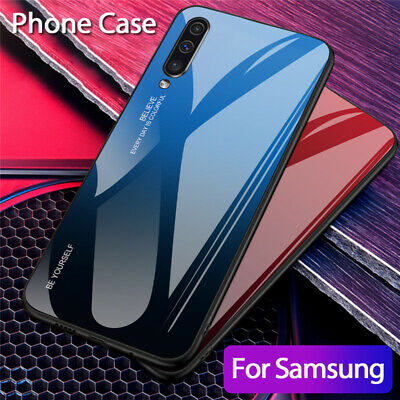 For Samsung Galaxy A50 A40 A20e A70 Gradient Tempered Glass Hard Back Case Cover 8