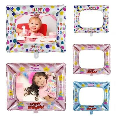 Happy Birthday Foil Balloons Photo Frame Photo Props Party Decoration Supplies 4