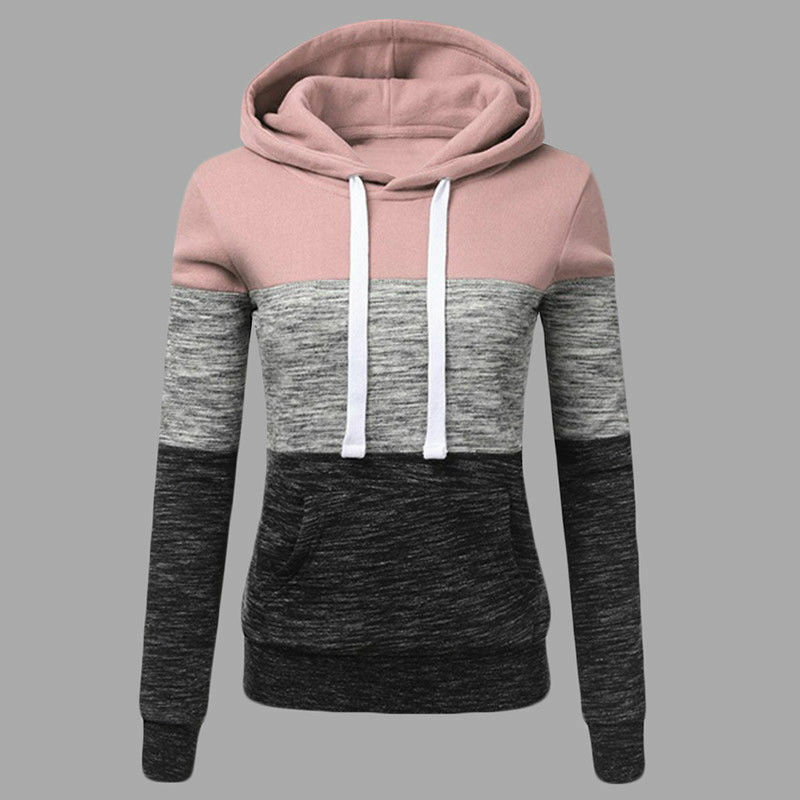 Women's Casual Hoodies Sweatshirt Ladies Hooded Long Sleeve Tops Jumper Pullover 4