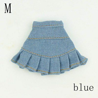 """Blue Jeans Casual Wear Clothes For 11.5"""" Doll Kids Toy A-line Skirt For 1/6 Doll 9"""
