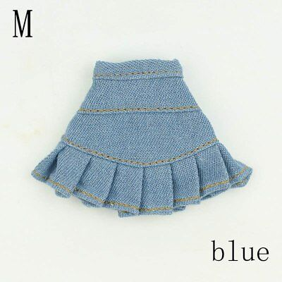"Blue Jeans Casual Wear Fashion Doll Clothes For 11.5"" Doll Kids Toy A-line Skirt 9"