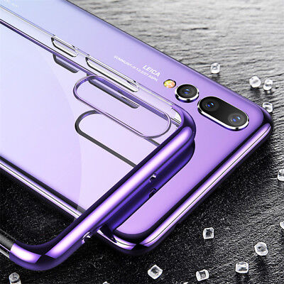 For Huawei P Smart 2019/ P30 P20 Lite Pro Plating Silicone Hybrid Case Cover 3