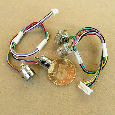 10PCS 2-Phase 4-Wire Mini 8mm Stepper Motor Stepping Motor Metal Copper Gear DIY 8