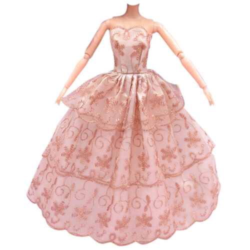 3Pcs Fashion Handmade Dolls Clothes Wedding Grow Party Dresses For Dolls 8