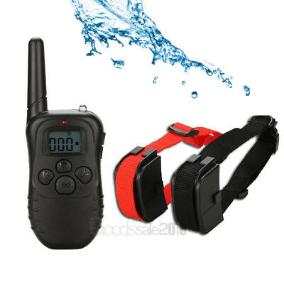 Waterproof 1000 Yard 2 Dog Shock Training Collar Pet Trainer with Remote Battery 11