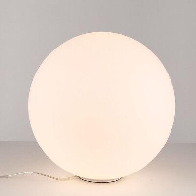 Simple Design Globe Glass Shade White Floor Lamp Light Round Base