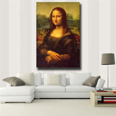 "Leonardo Da Vinci ""Mona Lisa Smile"" HD print on canvas huge wall picture (31x47)"