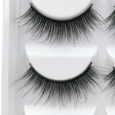 3D 5 Pairs Mink Natural Thick False Fake Eyelashes Eye Lashes Makeup Extension 5