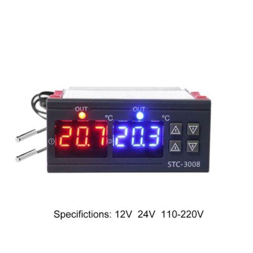 Temperature Controller Heating Thermostat Cooling 10A AC 110V 220V DC 24V 12V 2