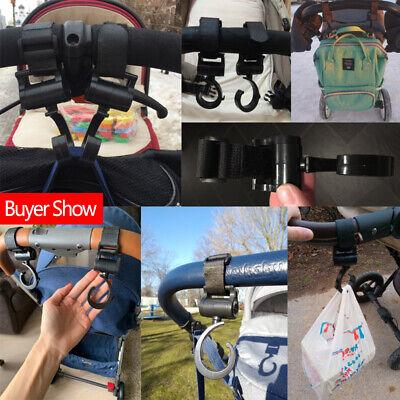 2pcs/Lot Baby Hanger Bag Stroller Hooks Pram Rotate 360 Cart Hook Accessories 7
