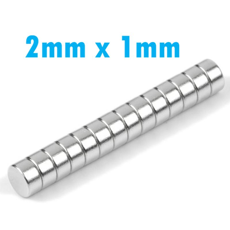 50/100 Neodym Mini-Magnete Scheiben-Magnete 2x1mm rund - extra-starke Haftkraft 7