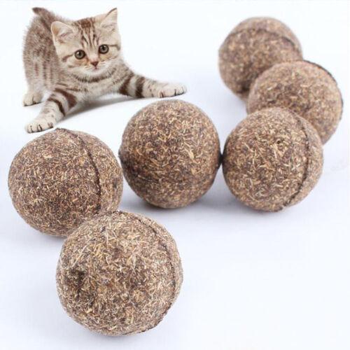 1-5xNaturel Menthe Boule Débourrage Poil Jouet Pr Chat Cat Animal Dia 3.4cm Neuf 2