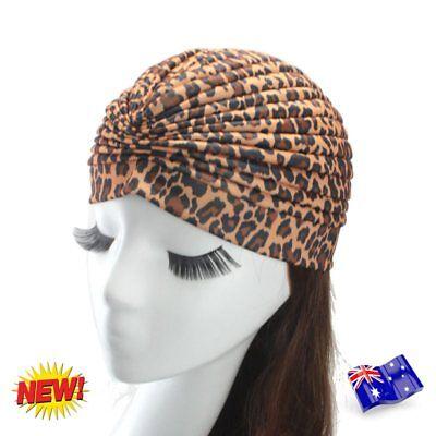 Ladies Stretch Headcover Head Wrap Beanie Chemo Bandana Animal Print Hat Turban 5