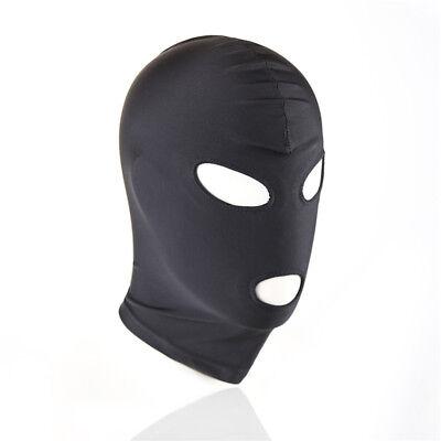 1*Senior Fetisch Harness Kopf Spiel Bondage Bound Restraint Maske Hood BDSM #CT2 4