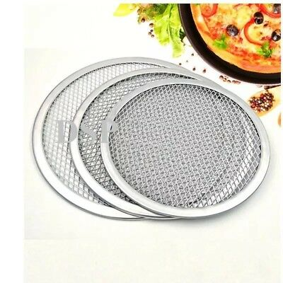 "2 QTY 5"" inch Aluminium Mesh Pizza Screen Baking Tray Bakeware Cook Pizza Net 4"