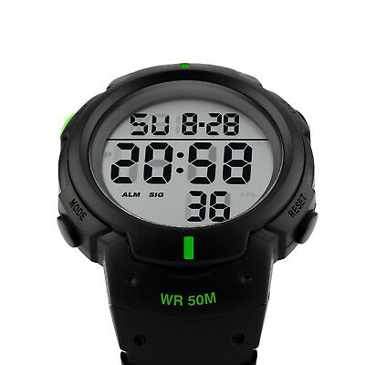 Men's Digital Sports Watch LED Screen Large Face Military Waterproof Watches 6