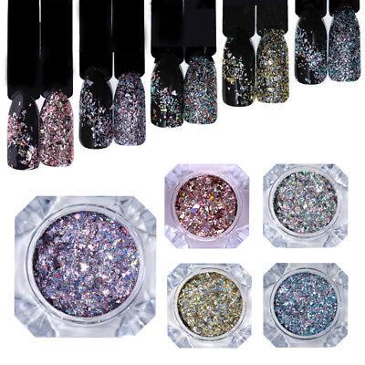 Nail Art Glitter Powder Dust for UV Gel Acrylic Powder Sequins Manicure Tips
