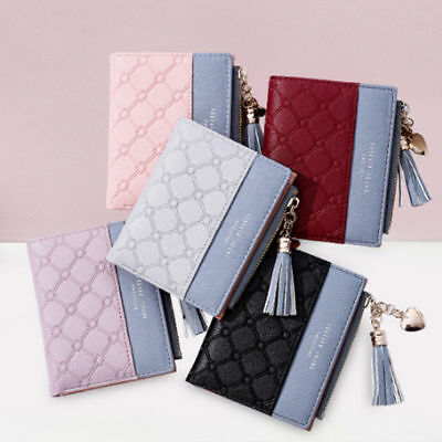Fashion New Wallet Women Coin Bag Leather Lady Simple Bifold Small Handbag Purse 4
