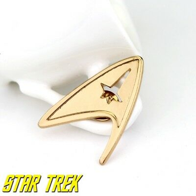 Star Trek Logo Metal Pin brooch Gold color Collectible gift decor cosplay 6