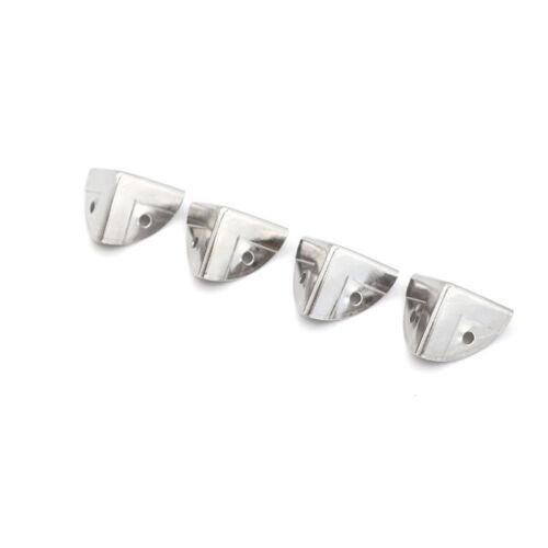 4pcs cornières en métal argenté angle corset protecteur coffre coffr OFQ