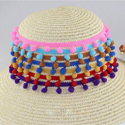 5 Yards Trim Pom Pom Lace Trim Fringe Ribbon DIY Apparel Mini Tassel Ball 4