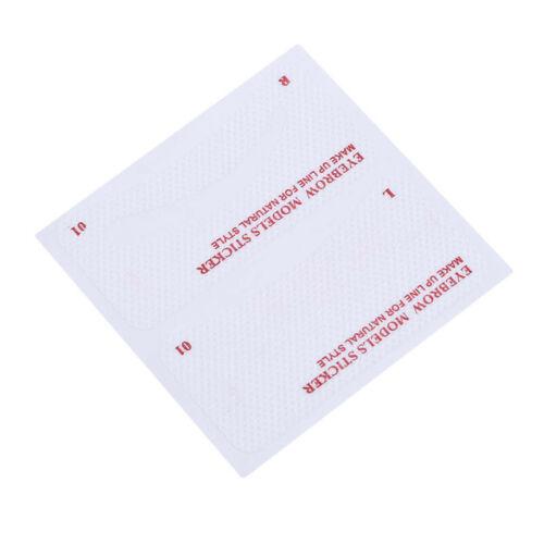 Thrush card Grooming Brow Stencils Eyebrow Template Stickers 24 pcs 1 Set LI 6