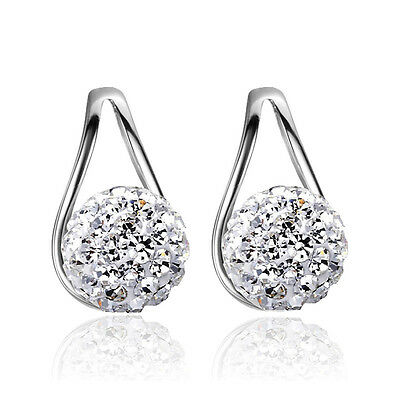 Hot Women Girl 925 STERLING SILVER Earring Hook Earplugs birthday gifts