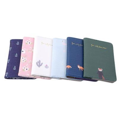 Animals Flower Faux Leather Passport Holder Cover Travel Wallet Organize Bag BS 4