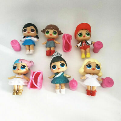 6 Pcs LOL Surprise Girls Dolls w/Accessory For Kids Party Toys Figures Gift Set 2